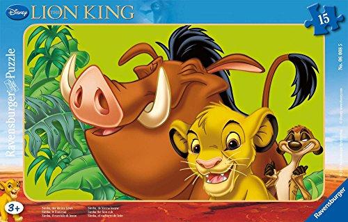 Puzzle 15 Teile Rahmenpuzzle - König der Löwen : Simba
