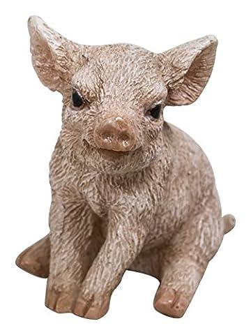 Monde animaux miniature–Pig & Agneau–Lot de 2(mw04–007)