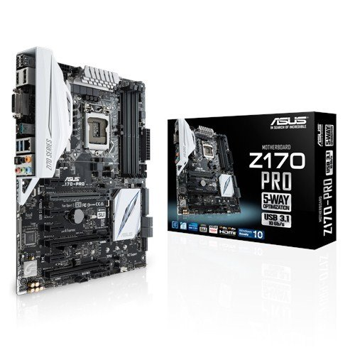 51yY9%2BFcwGL - BEST BUY #1 Asus Z170 Pro Motherboard (Socket 1151, Z170, DDR4, S-ATA 600, ATX, SupremeFX, Sonic Radar ll) Reviews and price compare uk