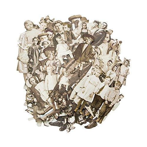Tim Holtz Puppen, Papier, mehrfarbig, 17,8x 13x 3cm Vintage-papier-puppen