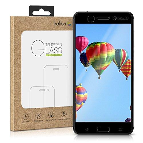 kalibri Nokia 6 (2017) Folie - 3D Glas Handy Schutzfolie für Nokia 6 (2017) - Auch für gewölbtes Bildschirm