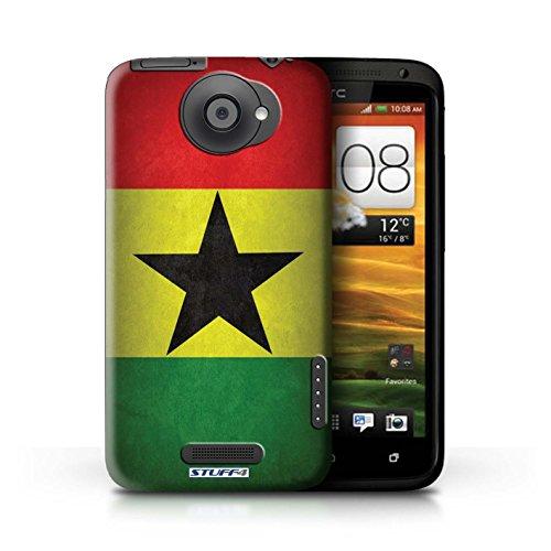 Kobalt® Imprimé Etui / Coque pour HTC One X / Pays de Galles/gallois conception / Série Drapeau Ghana