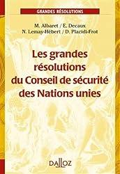 LES grandes résolutions du Conseil de sécurité des Nations unies - 1ère édition: Grands arrêts