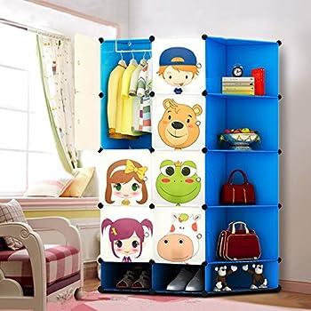 NEW Kids 12 Cubes Wardrobe Childrens Storage Cabinet Boxes Character Design Shoes Storage Corner