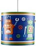 Cool Children's Colourful Robot Future Space Cylinder Ceiling Pendant Light Shade