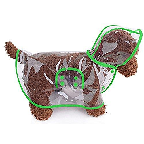 Kleine Hunde Katze Regenmantel Wasserdicht Regenjacke Chihuahua (Green, XS)