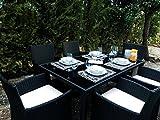 KieferGarden Washington Comedor Conjunto muebles de comedor para jardín y ...