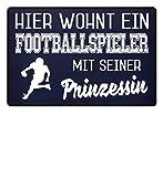 Shirtee Hier wohnt ein Footballspieler mit seiner Prinzessin - Fußmatte
