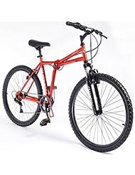"Muddyfox Cruise 26"" Folding Bike - Steel Frame - Red"