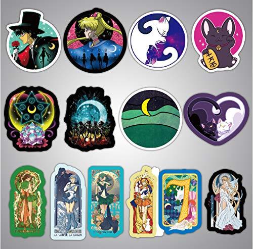 DZCYAN 50 PCS Exquisite Self-Made Guardian SailorGirl Scrapbooking Decorative Sticker Decoration/Waterproof Paper Stickers