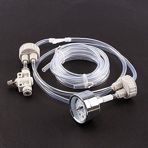 Yosoo DIY Kit de Système de CO2 Générateur avec testeur de pression Air flux ajustement Vavle eau Plante Aquarium Accessoire nécessité