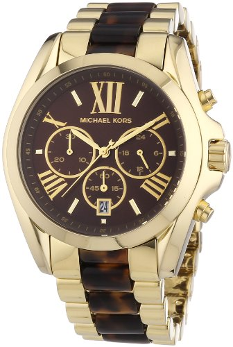 Michael Kors MK5696 - Reloj con correa de acero y silicona para mujer, color marrón/gris