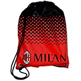 AC Milan Official Fade Football Crest Design Gym Bag (One Size) (Red/Black)