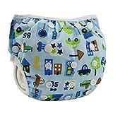 Centtechi Pannolini da nuoto per bambini riutilizzabili,il costume da bagno adatto per baby da 0-18 mesi(Auto giocattolo)