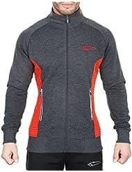 SMILODOX Sportjacke Herren | Zip Hoodie für Sport Training & Freizeit | Trainingsjacke - Laufjacke – Fitnessjacke - Sportpullover Sweatshirt mit Reißverschluss