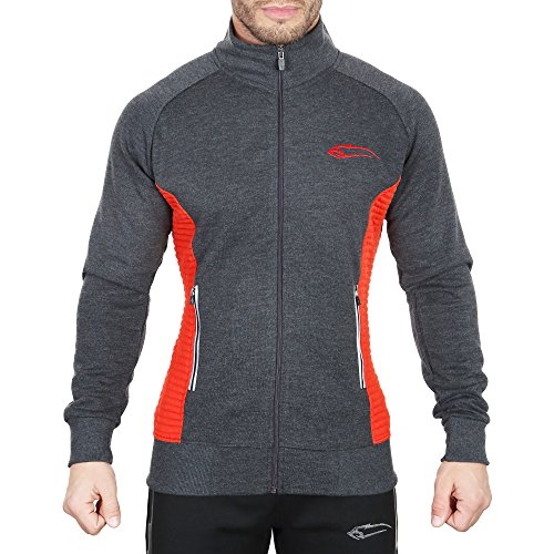 SMILODOX Sportjacke Herren   Zip Hoodie für Sport Training & Freizeit   Trainingsjacke - Laufjacke