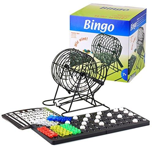 Bingo XXL Set Metall Bingotrommel Bingo-Mühle Lotto-Trommel & 1000 Bingokarten