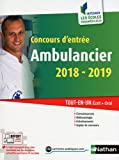 Concours d'entrée Ambulancier 2018-2019. Tout-en-un écrit + oral