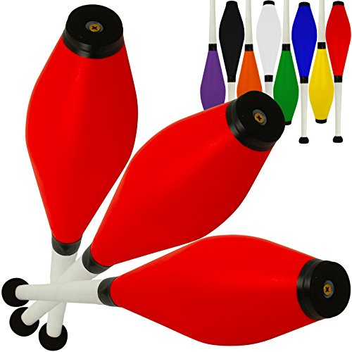 Set Of 3 Jac Products Medium Air Juggling Clubs  3 Red