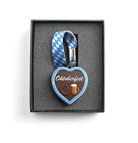Preisvergleich Produktbild Lustiger USB Stick in Lebkuchen-Optik zum Oktoberfest - 8GB Speicher-Medium mit Schlüssel-Anhänger und Geschenk-Box