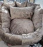 Luxury personalised crushed velvet dog or cat bed