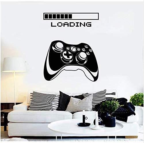 (Newberli Gaming Vinyl Wandaufkleber Kunst Joystick Loading Video Spiel Wandaufkleber Selbstklebende Tapete Poster Für Jungen 28X36 Cm)