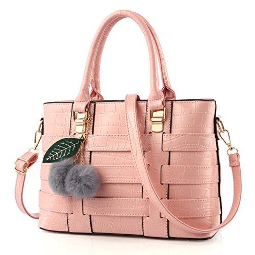 Sacchetto di spalla di modo del sacchetto di spalla di modo della borsa di stile delle signore e peluche e fogli di peluche sei colori Materiale opzionale dell'unità di elaborazione Pink