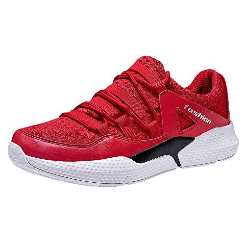Turnschuhe Männer Weiß,Dasongff Fitnessschuhe Atmungsaktiv Turnschuhe Laufschuhe Männer Running Fitness Schnürer Running Shoes