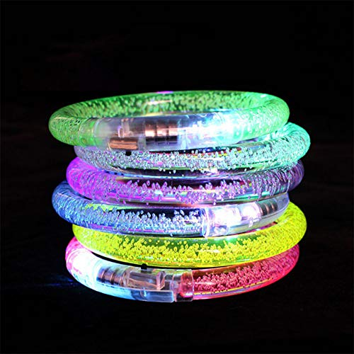BeesClover Mädchen Ringlampe Glow Flash Peacock Fluoreszenz Ring Glow im Dunkeln Party Supplies Illuminated Bracelet (Bubble) 10