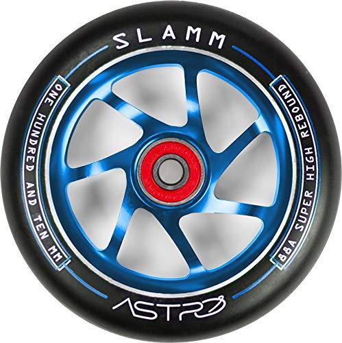 Slamm Astro 110mm Stunt Scooter Rolle (110mm - Blau) (Mgp Pro Scooter Billig)