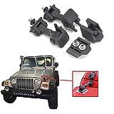 boxatdoor 2Sets Coche capucha CATCH Lock Kit Motor capucha Latch Catch Bloqueo Negro
