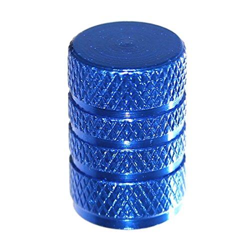 Metall Kappe (Otto-Harvest 4er Set Ventilkappen mit Dichtung Autoventil Kappe für Standard Ventil Motorrad Fahrrad Krad Auto Cap Schrader Neu (Blau))