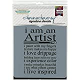 Donna Downey pochoirs en plastique Signature 21,5cm x 21,5cm, artiste