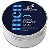 artnaturals bigote y barba balm-oil – 60 ml – cera natural Leave In Conditioner que alivia el picor, thickens, fortalece, suaviza, doma y estilos crecimiento del cabello facial