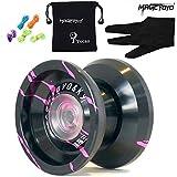 Magicyoyo Yostyle K9 Tiburón honor de aleación de aluminio profesional yoyos Bolas Yoyo bola + Big 5 Cuerdas + Guantes de juguete para niños Kids presentar los regalos de la muchacha del muchacho (azul + blanco) (negro + rosa)