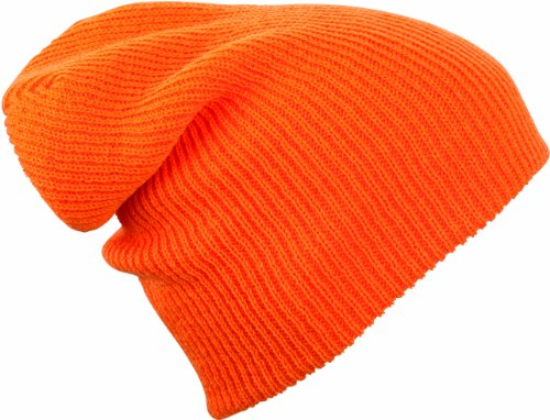Myrtle Beach Strickmütze Knitted Long Beanie, orange, One Size, MB7955 or