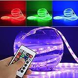 Yorbay 5M LED Strip RGB Steifen Unterwasser-Strip wasserdicht IP68 150 5050 SMDs + Controller mit 24Taste IR Fernbedienung + 12V Trafo/Netzteil Komplettset
