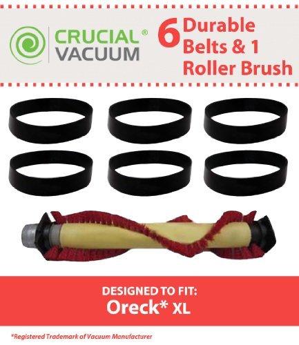 Crucial Vacuum Oreck Xl Rollbürste Montage Kit, inkl. 1Roller Brush ersetzt Oreck Staubsauger Teil #: 016-1152, 752020+ 6Gürtel ersetzt Oreck Vakuum Teil # 030-0604, XL010-0604; Entworfen und Engineered by - Oreck Staubsauger Teile