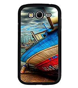 PrintVisa Designer Back Case Cover for Samsung Galaxy Grand Neo Plus I9060I :: Samsung Galaxy Grand Neo+ (Boat Painting Art on Sea )
