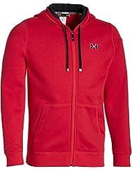 Under Armour Fitness - Sweatshirt CC Storm Rival Full Zip - Forro para hombre, color Rojo, talla L