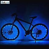 ELINKUME 20 LED Fahrradbeleuchtung, Super Bright Rad Licht Gesetzt, Mountain Bike Light, 2 Licht Modi, Wasserdicht, Einfach zu installieren (Blau)