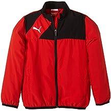 Puma Jacke Esquadra Woven Jacket - Cortavientos para niño, color rojo, talla 164 cm