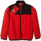 Puma Jacke Esquadra Woven Jacket - Cortavientos para niño, color rojo, talla 152 cm