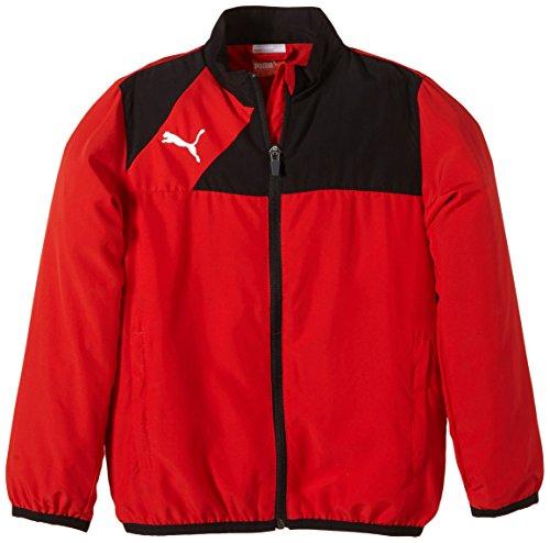 PUMA Kinder Jacke Esquadra Woven Jacket, puma rot-schwarz, 164, 654386 14