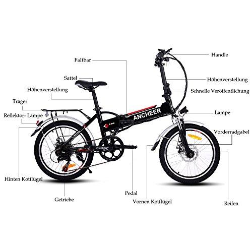 Ancheer Faltbares E-Bike, 20 Zoll - 4
