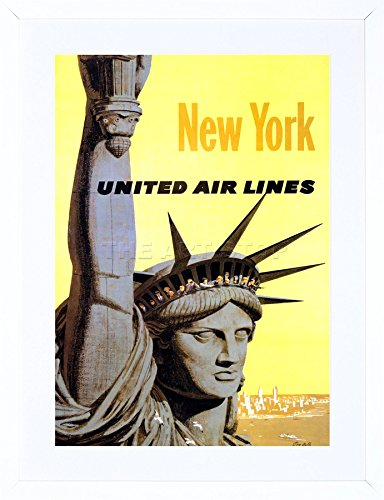 united-airline-statue-liberty-new-york-vintage-advert-framed-art-print-picture-mount-f12x1529