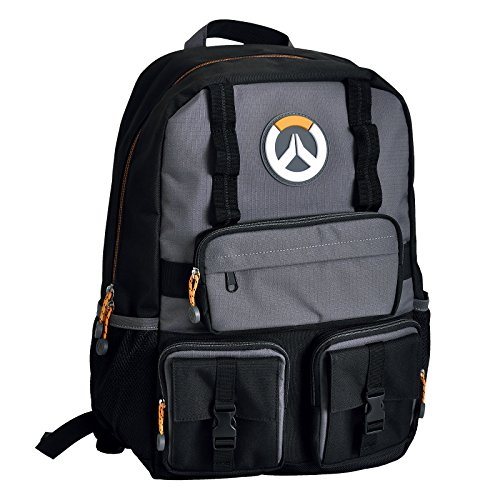 Overwatch mochila Juego Logo 46x30x15cm gris negro
