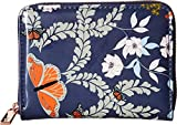 TED BAKER ' Peeta Kyoto Gärten' blaues Leder Mini Münzbörse