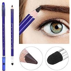 Lápiz de cejas semi permanente de doble cabeza Herramienta de tatuaje Microblading Posicionamiento Pluma de maquillaje de belleza