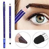 Crayon à Sourcils Semi Permanent Double Tête Sourcils Crayon de Tatouage Microblading Maquillage(Brun)